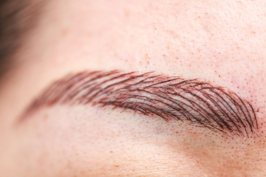 natural looking micro bladed brows