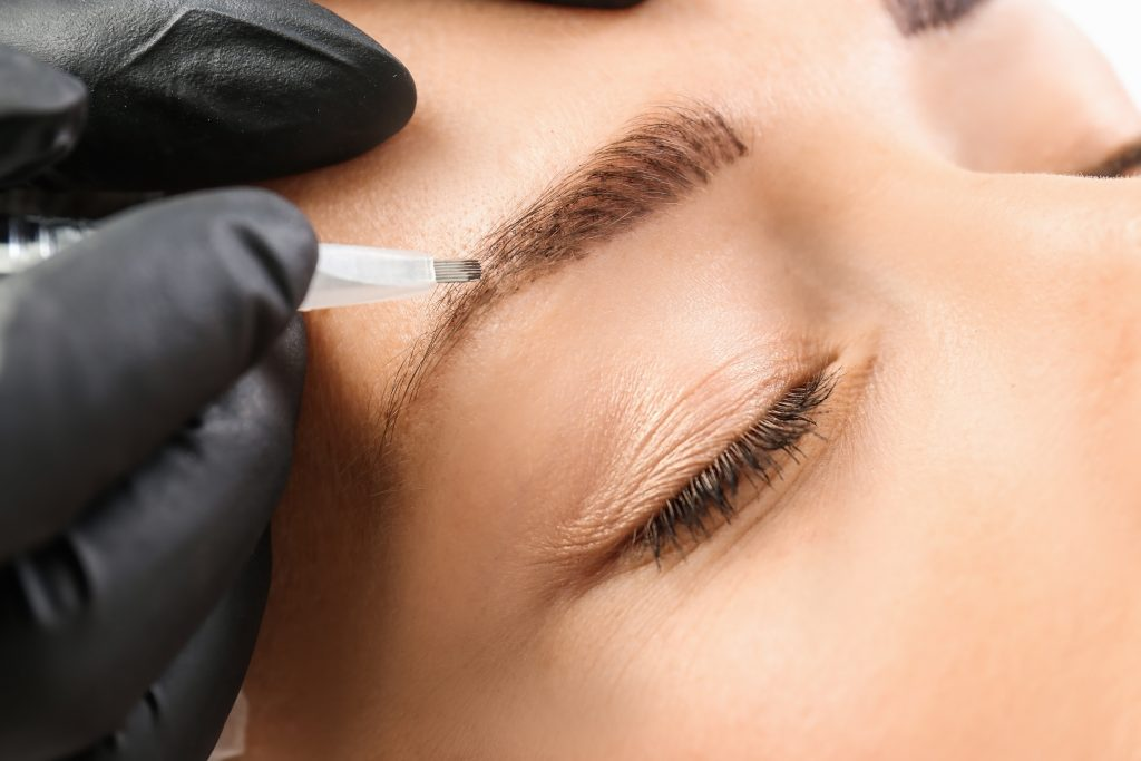 Microblading Using Micro Needles