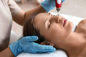 Woman Undergoing BB Glow Treatment