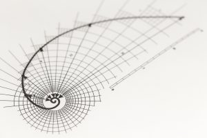 Drawing of the Golden Ratio Measuring System