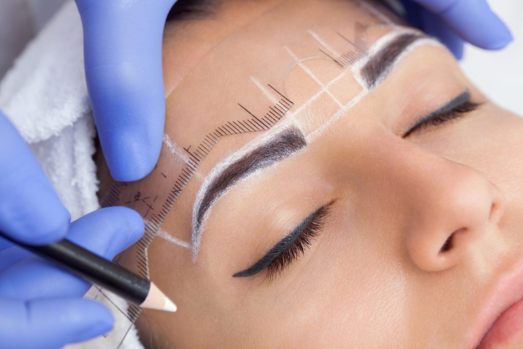 microblading pre-draw