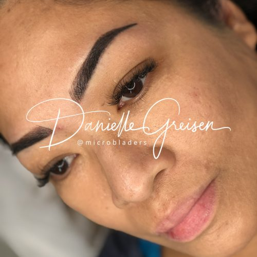 Microshading + Microblading Combo Eyebrows by Danielle at MicroBladers Las Vegas