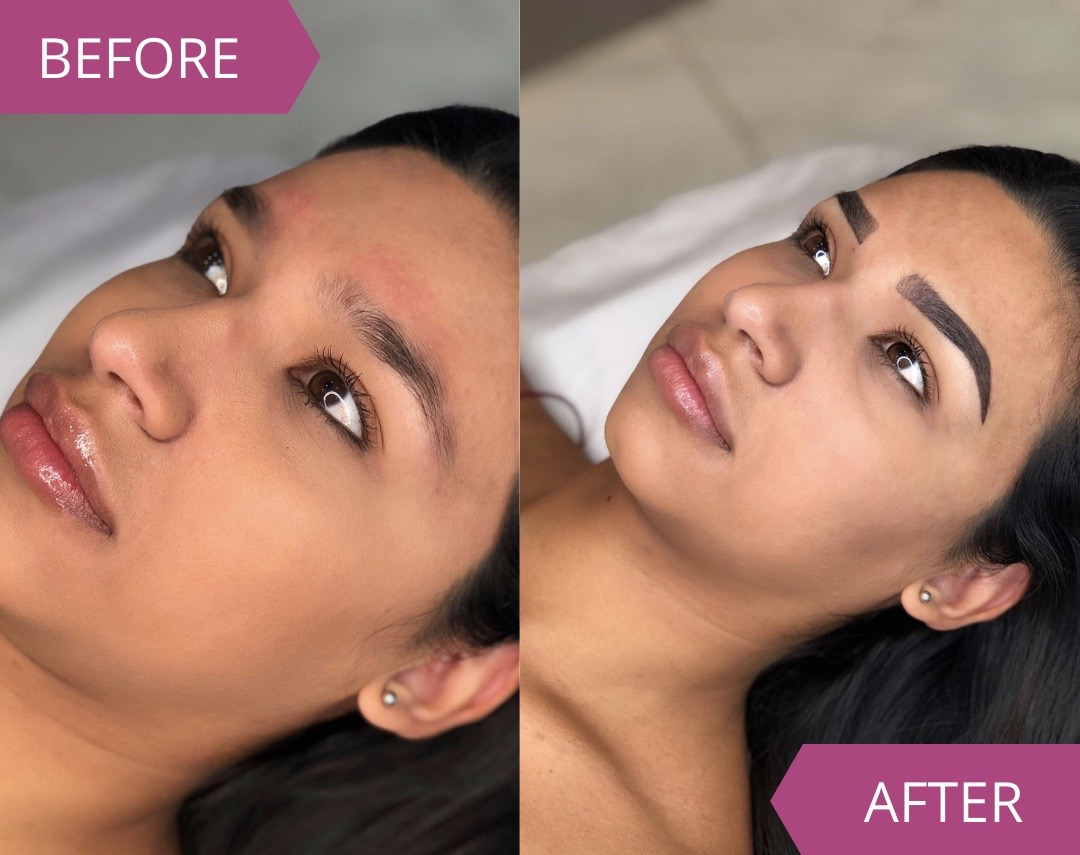 MicroBladers Ombre Brows Before and After