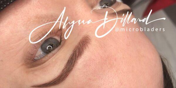 Eyebrow microblading by Alyssa Dillard at MicroBladers